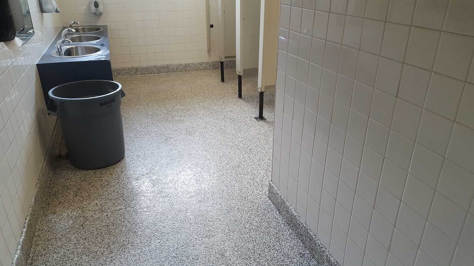 Epoxy floor coating and repair at Lochside Elementary