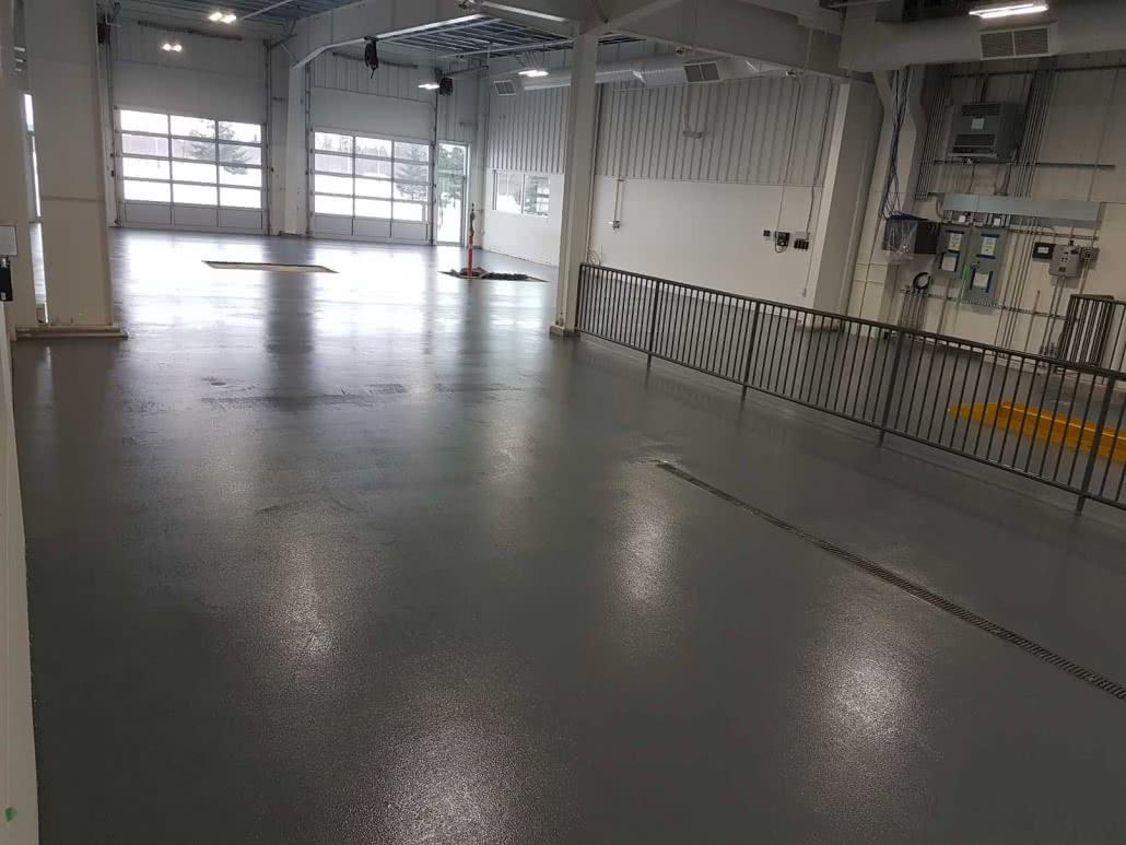 Concrete urethane floor coating at Steve Marshall Ford