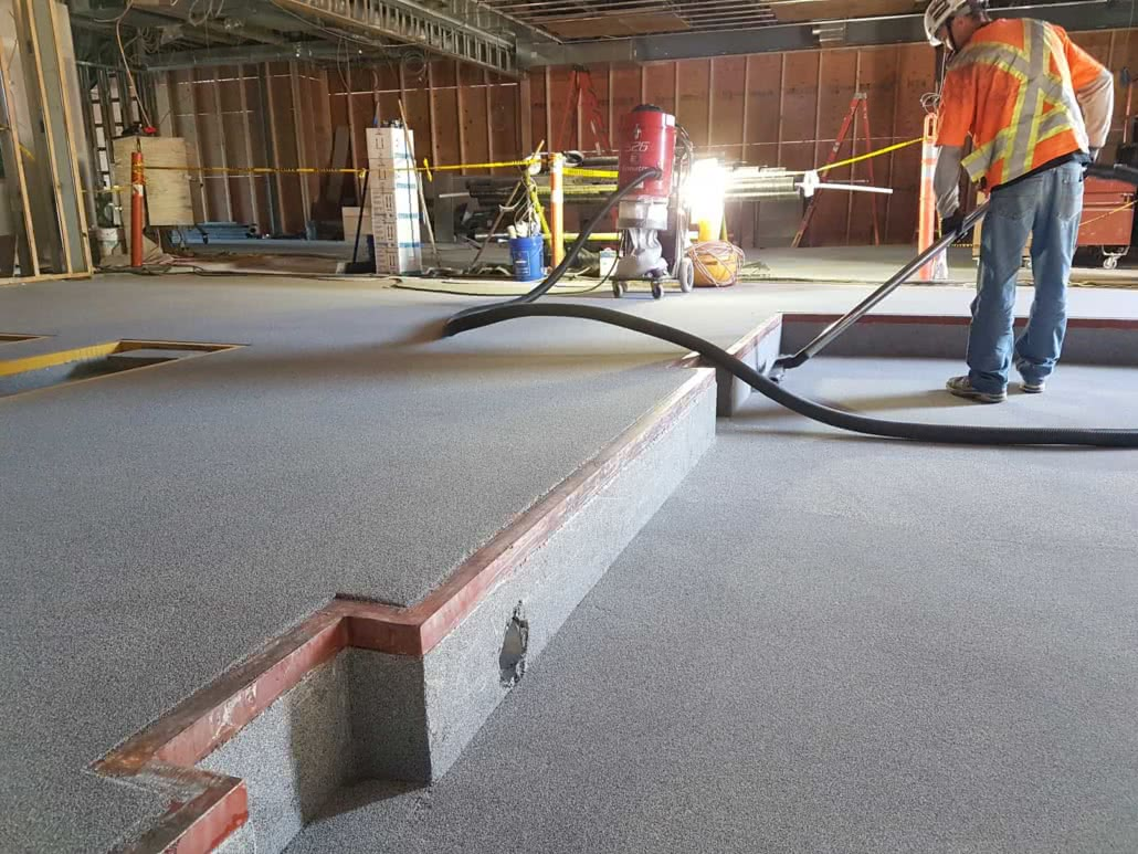Epoxy and urethane floor coating at Nanaimo Volkswagen