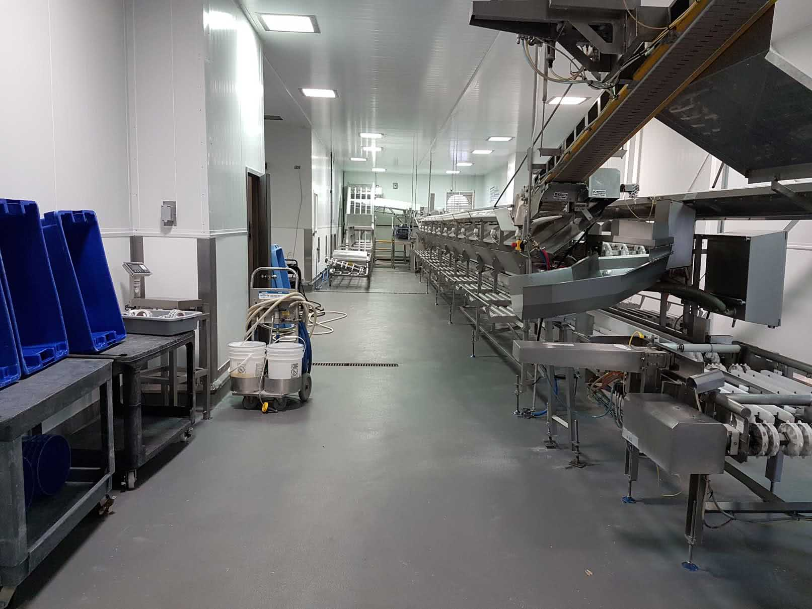 Epoxy and urethane concrete floor coating at Cermaq food processing