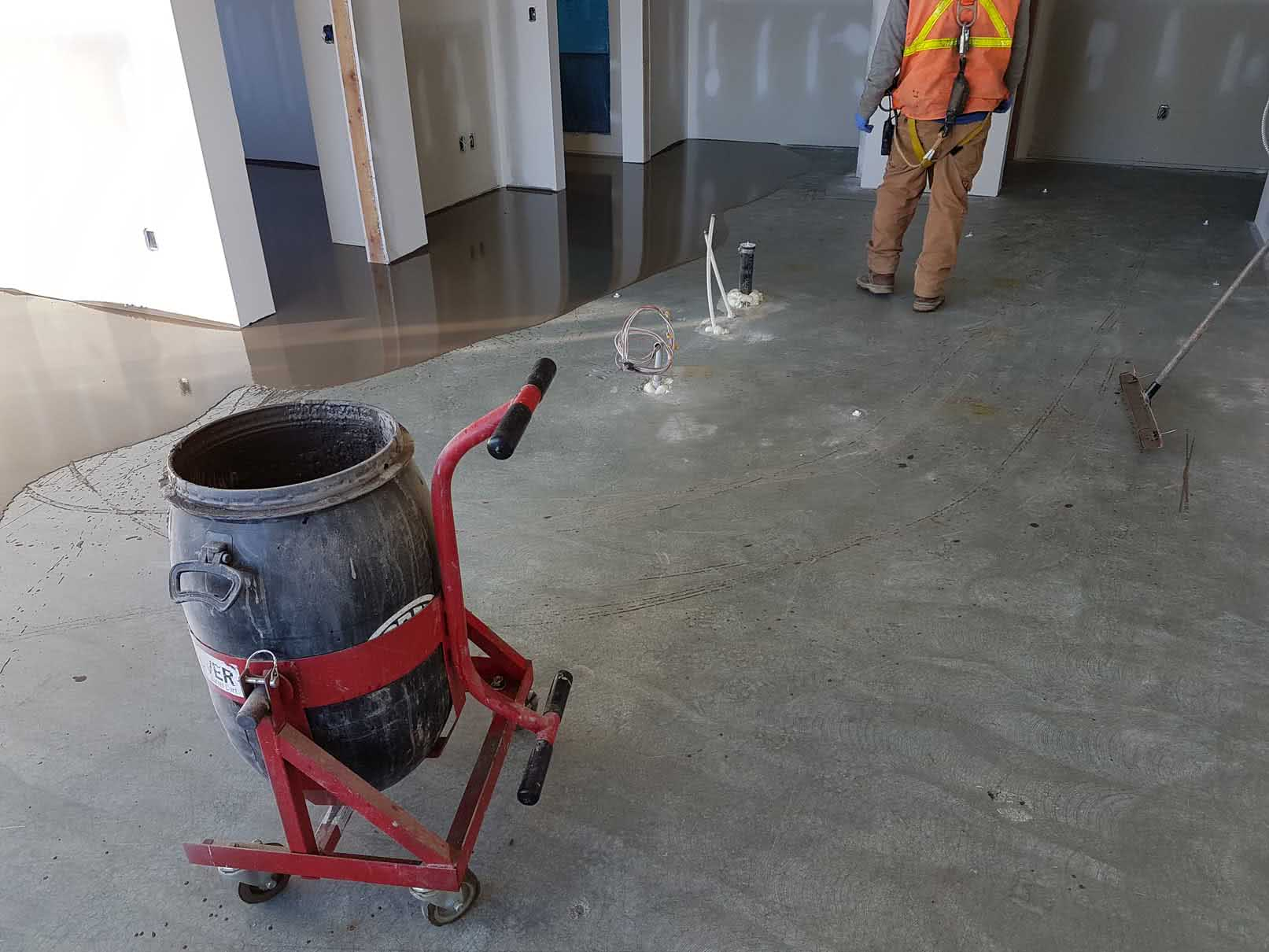 Concrete floor leveling and resurfacing at Bayview Place