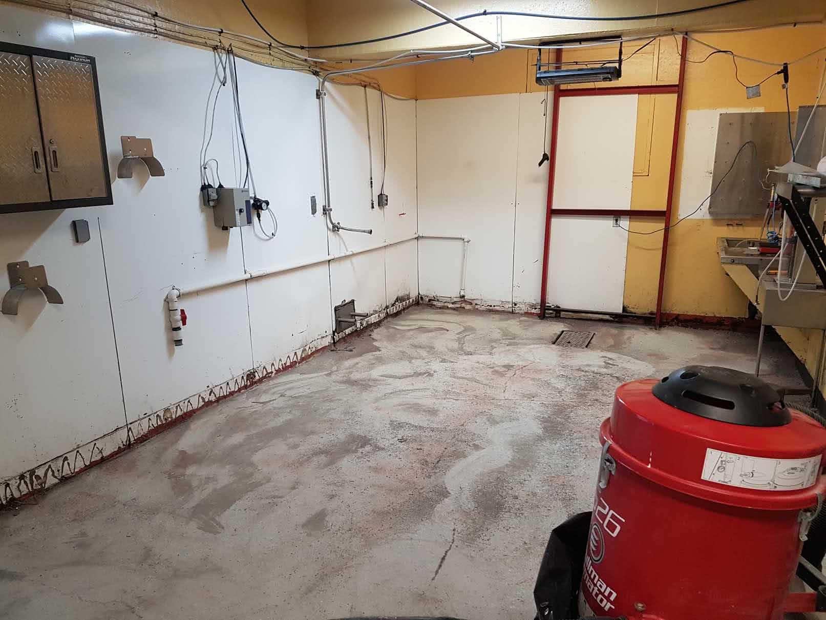 Urethane concrete floor coating at Merridale Cidery