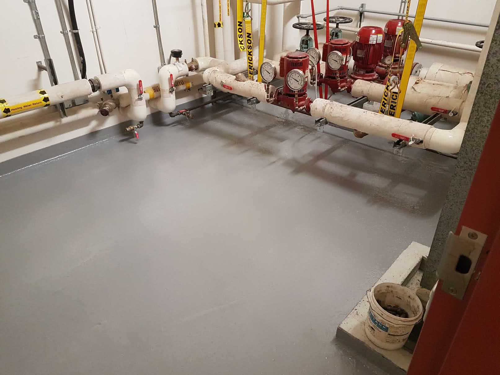 Concrete floor resurfacing and repair at Lakeview Elementary