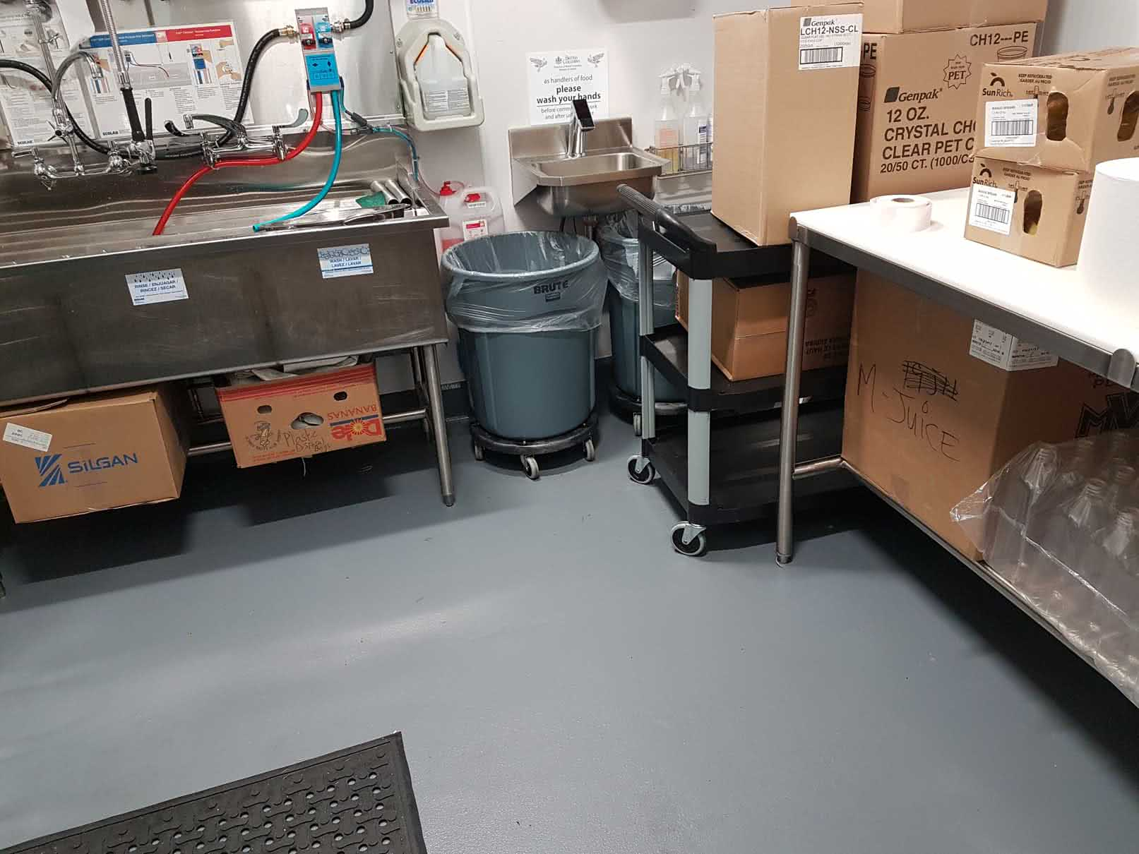 Concrete floor resurfacing for Save on Foods