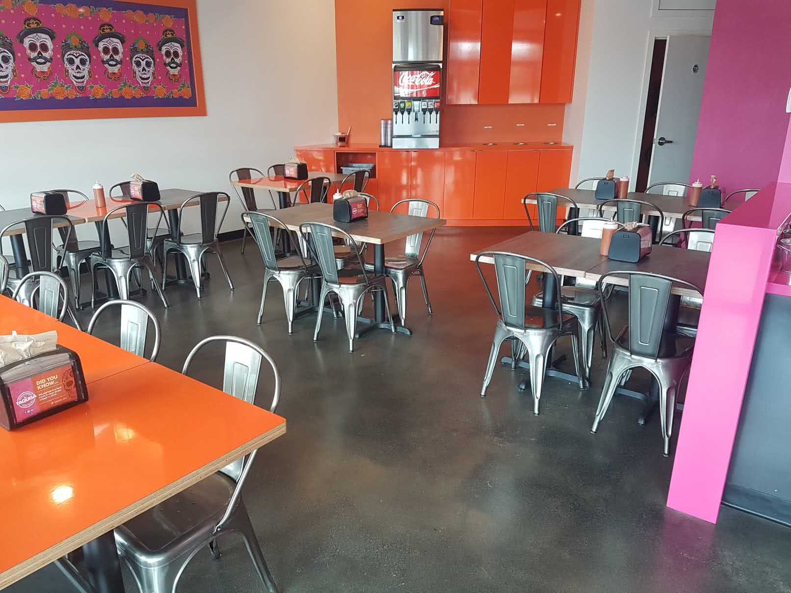 Epoxy concrete floor coating at La Taquisa