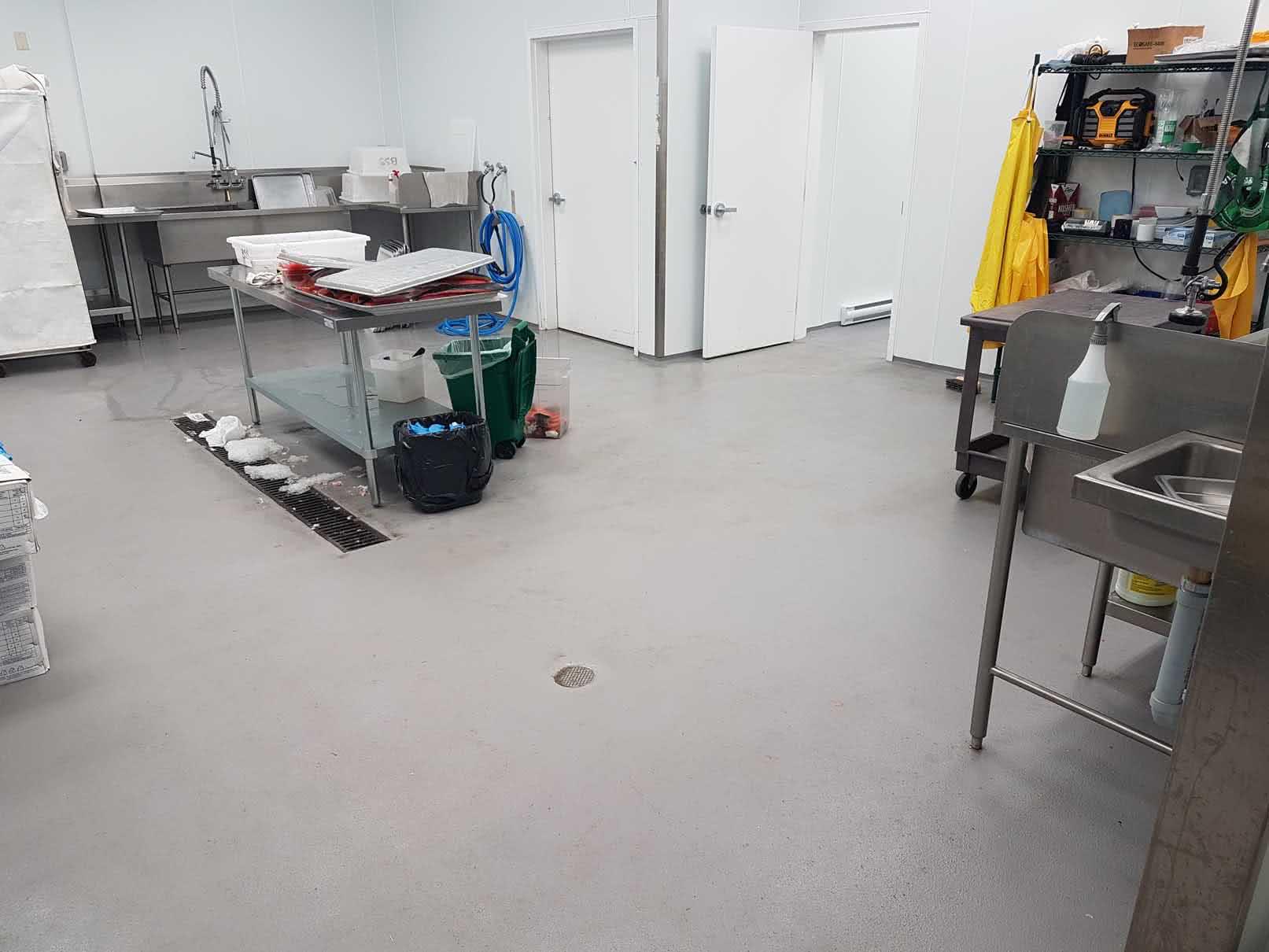 Concrete floor resurfacing at Cowichan Bay Seafood