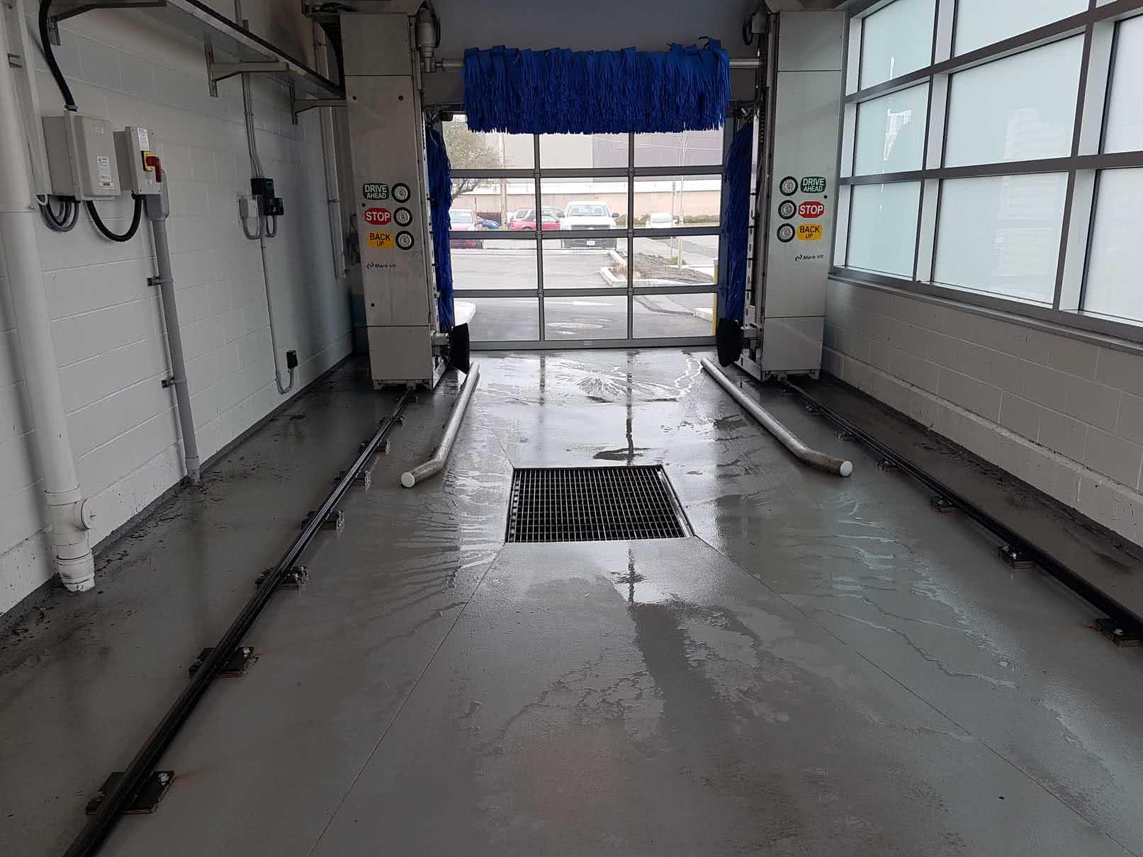 Epoxy urethane garage floor coating at BCAA