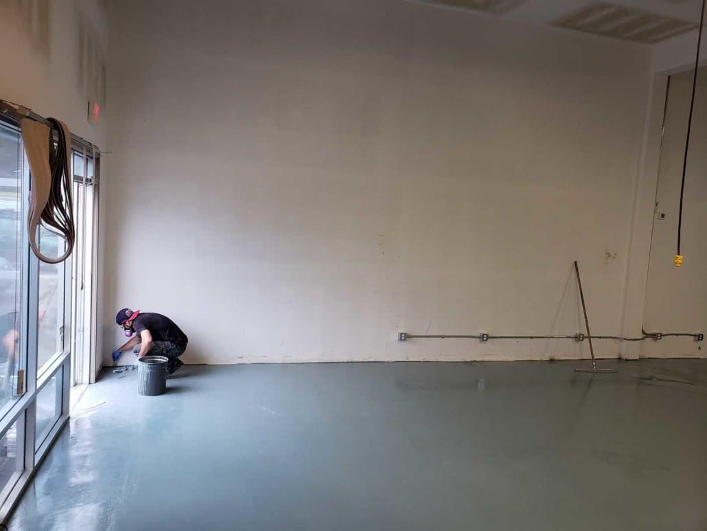 Concrete grinding, resurfacing and repair at Jusu Body