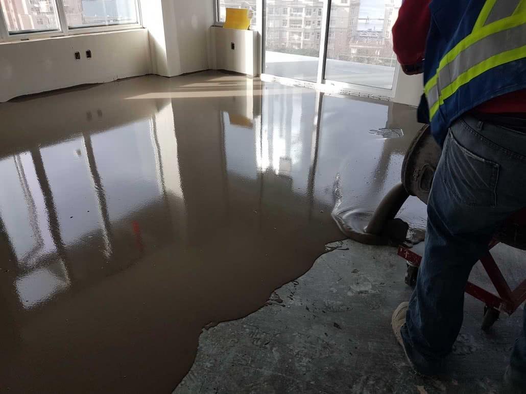 Concrete floor resurfacing - Bayview Place