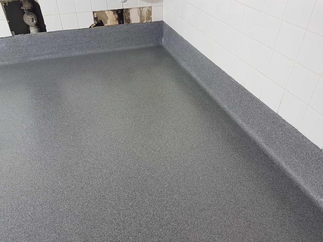 Urethane floor coating at Comox Recreation Centre