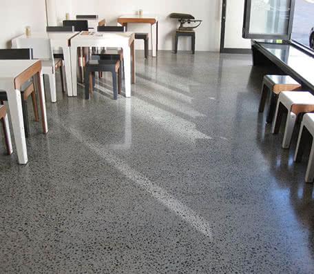Concrete floor polishing example