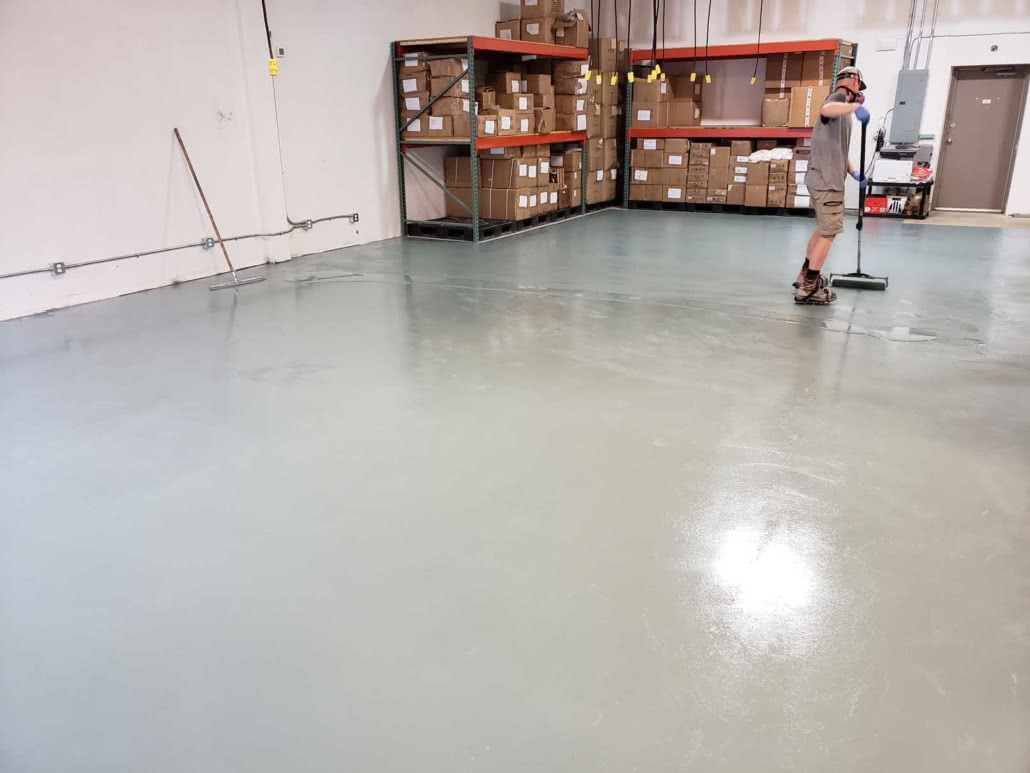 Concrete grinding & epoxy floor coating - Jusu Body
