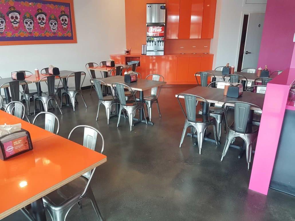 Concrete floor resurfacing - La Taquisa