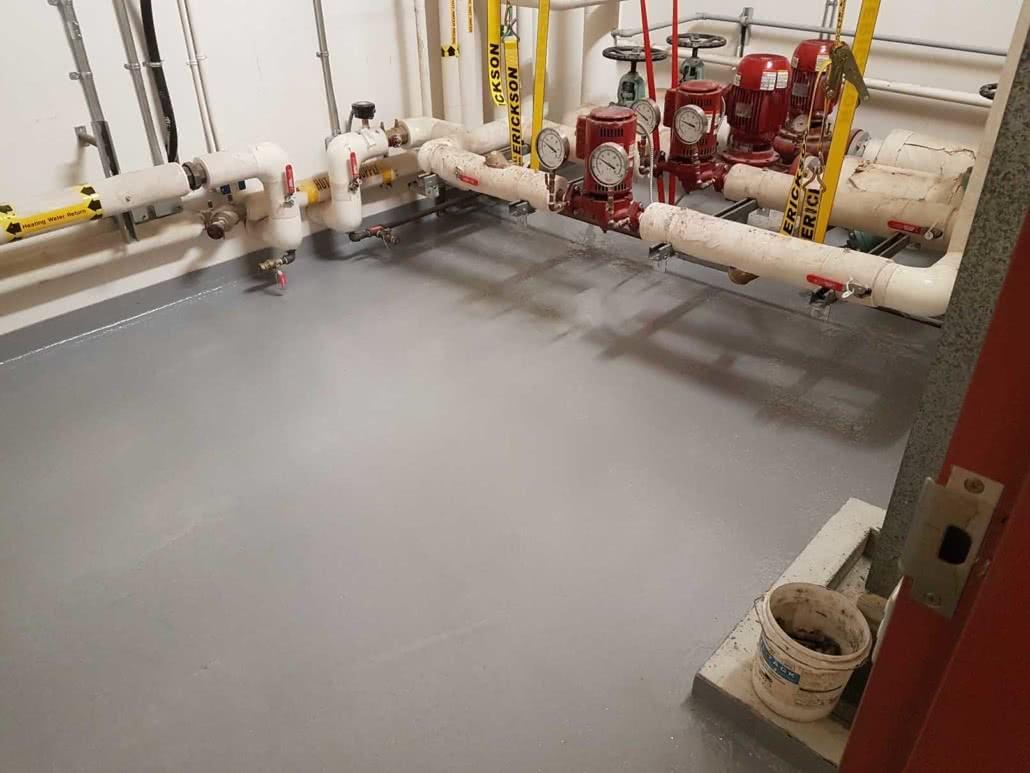 Epoxy floor coating at Lakeview Elementary