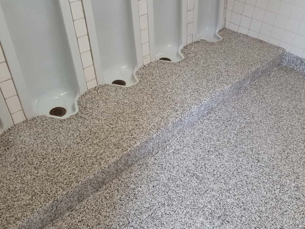 Concrete floor resurfacing - Lochside elementary