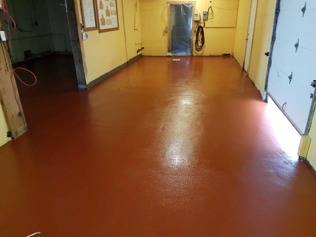 Urethane concrete floor coating - Merridale Cidery