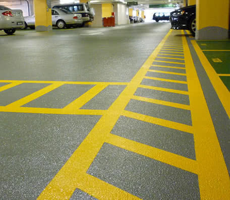 Concrete coating and membrane for automotive garages