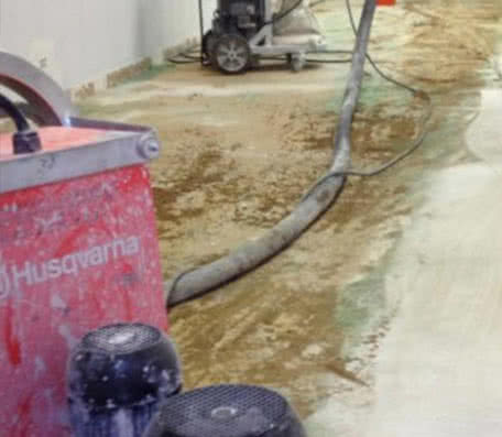 Concrete leveling and resurfacing preparation