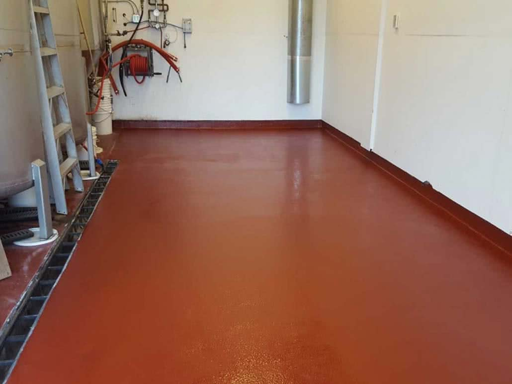 Epoxy flooring and coating at Sea Cider Cidery