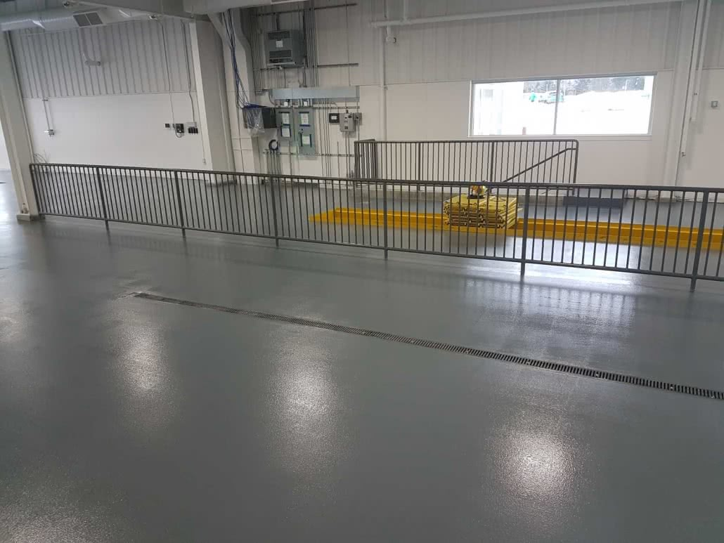 Epoxy flooring for garage at Steve Marshall Ford