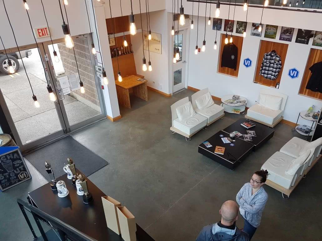 Concrete floor resurfacing & polish - Vancouver Island Brewery