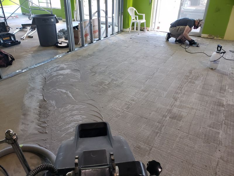 Concrete resurfacing prep - Clarity Cannabis