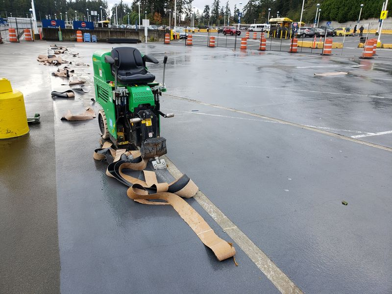 parking membrane removal