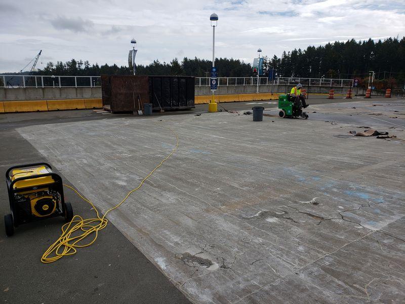 Concrete grinding process