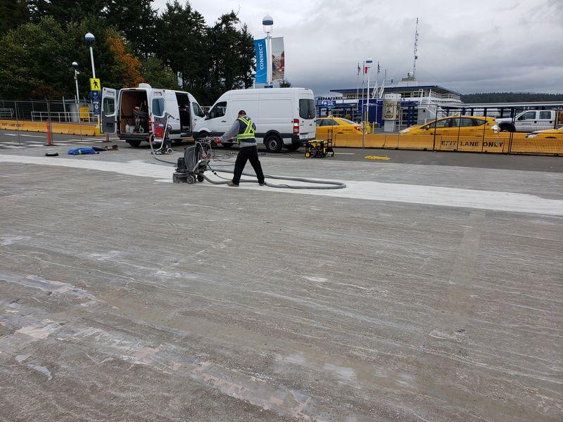 Parking Membrane prep - BC Ferries