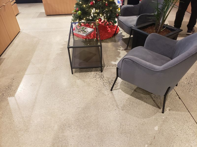 Resurfaced concrete floor - Clarity Cannabis