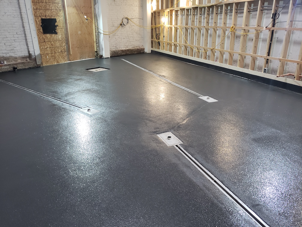 Urethane Floor Coating - Herald Street Brew Works