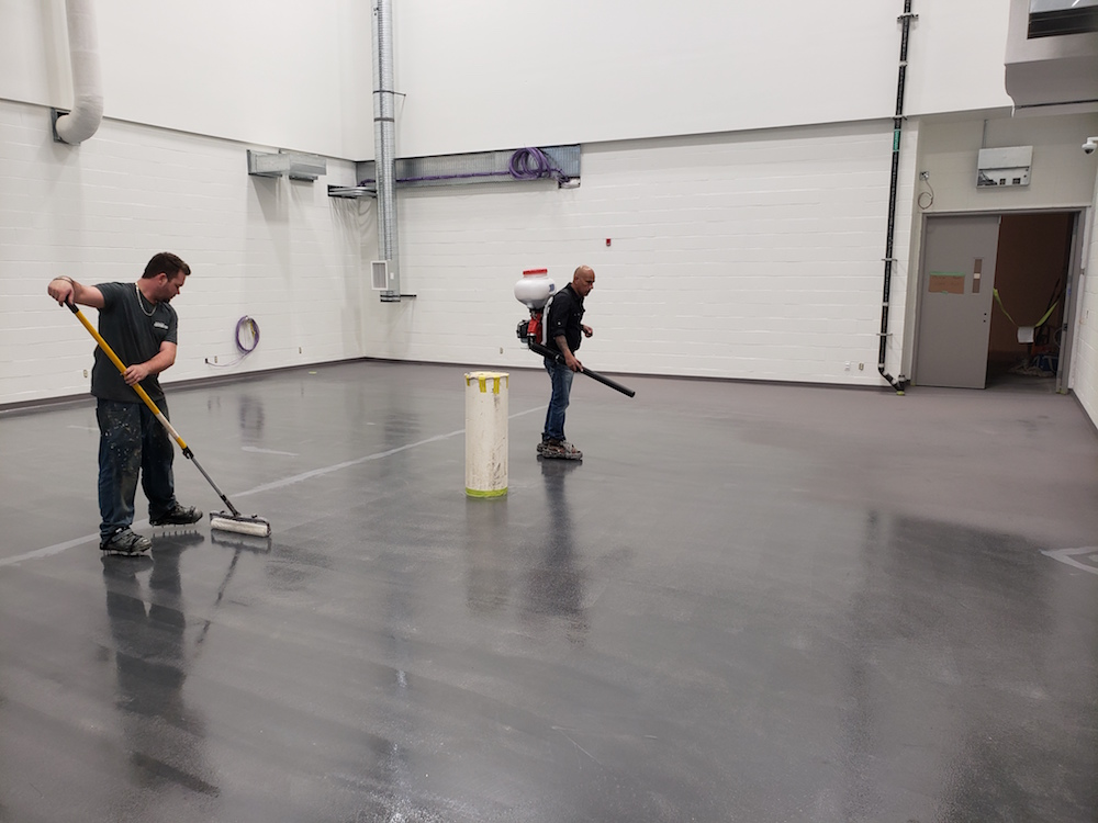 epoxy floor coating - CFB Comox