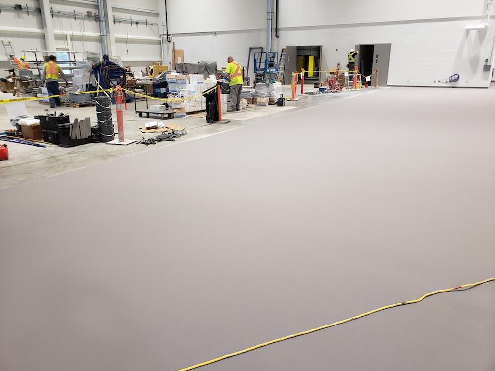 epoxy floor coating - CFB Comox