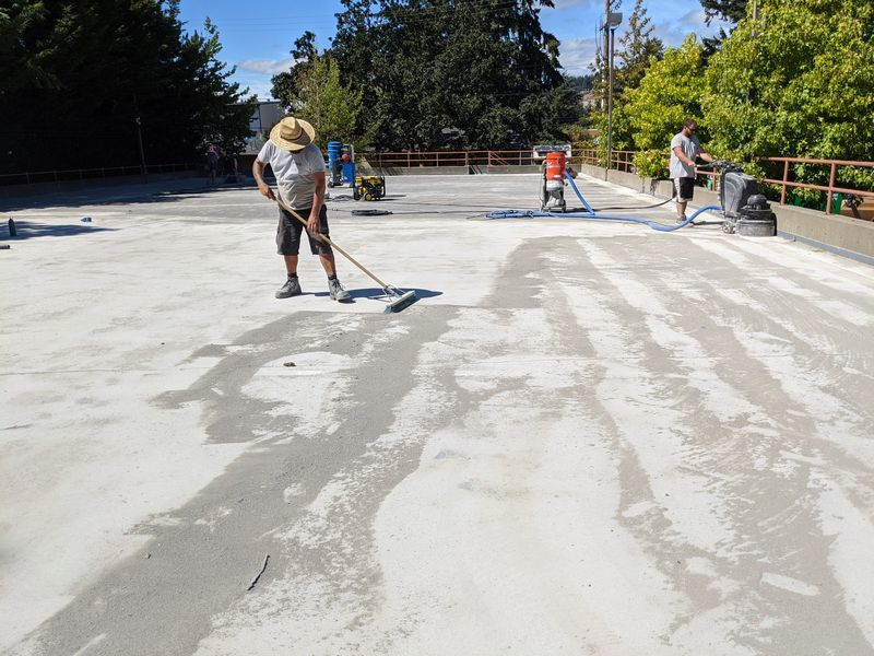 Parkade membrane and concrete repair