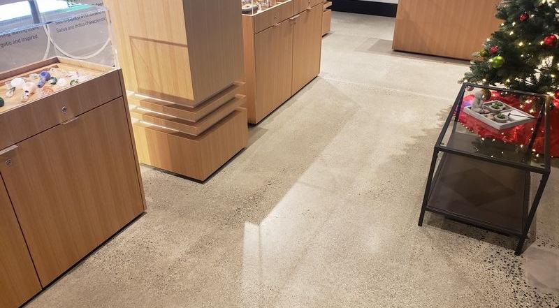 Clarity Cannabis concrete floor resurfacing